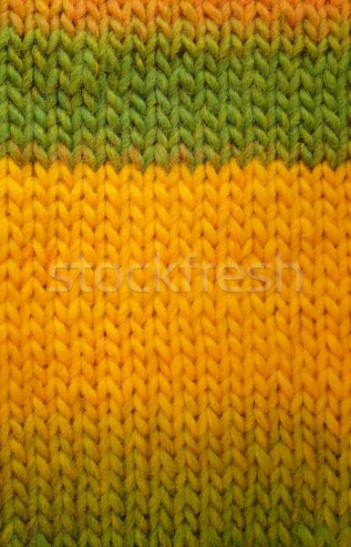 зеленый желтый чулок стежка длина Сток-фото © sarahdoow