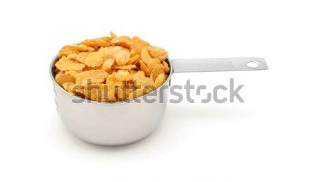 Corn flakes breakfast cereal in a measuring cup Stock photo © sarahdoow