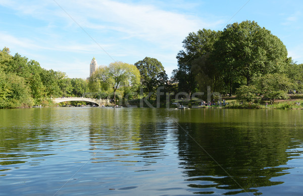 Bow Bridge over The Lake in Central Park  Stock photo © sarahdoow
