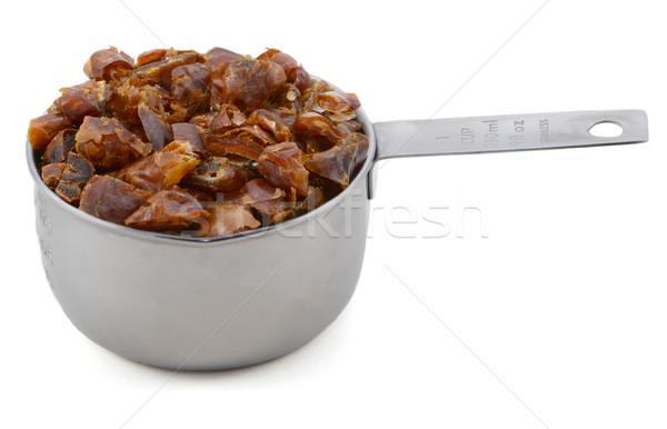 Aprított datolya amerikai csésze méret izolált Stock fotó © sarahdoow
