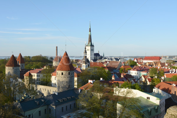 Cityscape of Tallinn, Estonia - a UNESCO World Heritage site Stock photo © sarahdoow