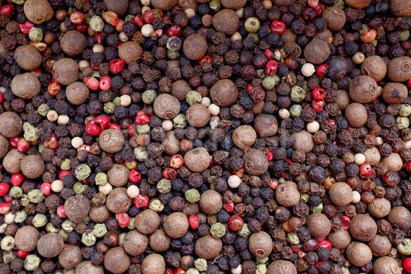 Mixed peppercorns background Stock photo © sarahdoow