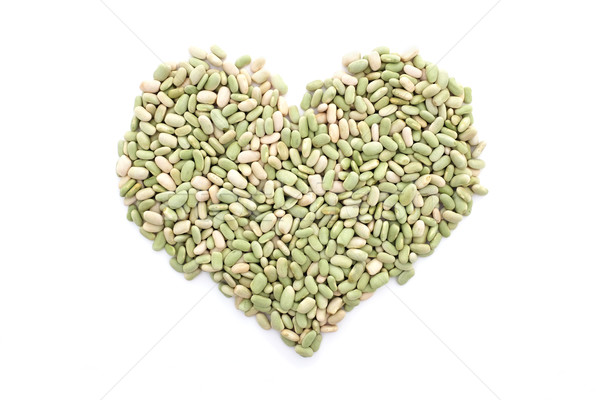 Flageolet beans in a heart shape Stock photo © sarahdoow
