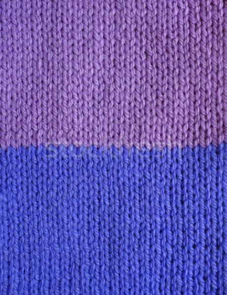 Purple and blue striped stockinette knitting  Stock photo © sarahdoow