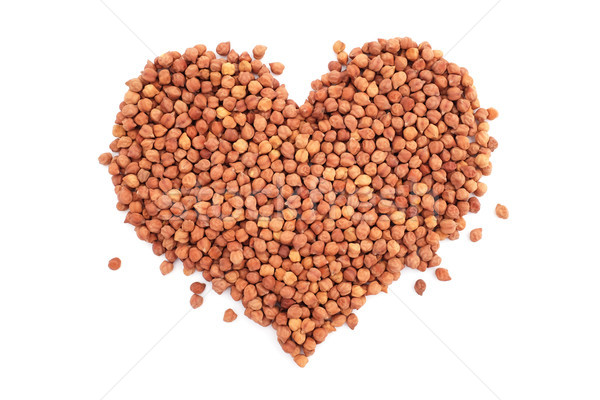 Stock photo: Dried black chickpeas in a heart shape