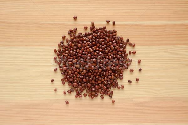 Foto stock: Feijões · madeira · grão · de · madeira · textura · comida · grão