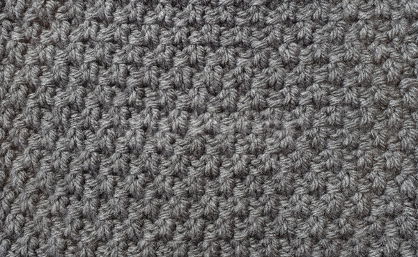 Seed stitch in grey wool Stock photo © sarahdoow