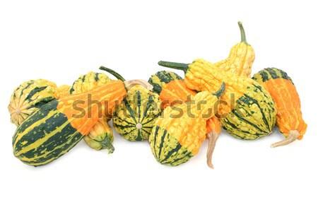 Yeşil turuncu sarı yalıtılmış beyaz Stok fotoğraf © sarahdoow