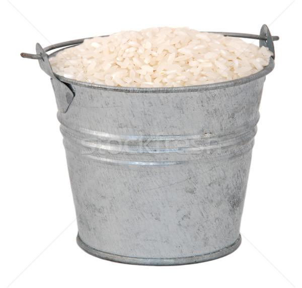 Zdjęcia stock: Biały · długo · ziarna · ryżu · miniatura · metal