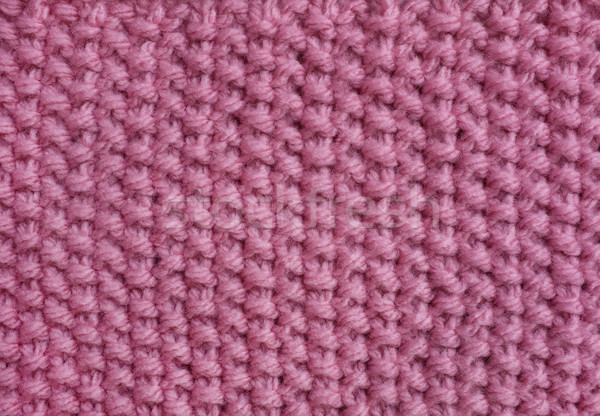 Moss stitch knitting in pink wool  Stock photo © sarahdoow