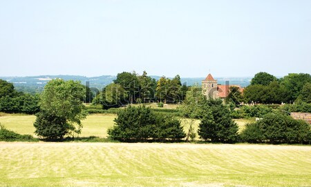 Rural landscape with historic church in Kent, England Stock photo © sarahdoow