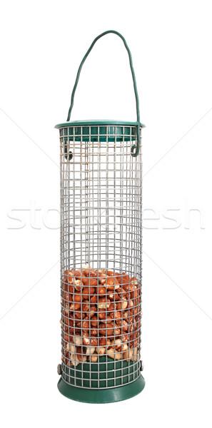 Bird feeder half full of peanuts Stock photo © sarahdoow
