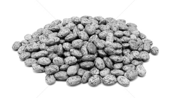 Foto stock: Feijões · isolado · branco · monocromático · saudável · feijão