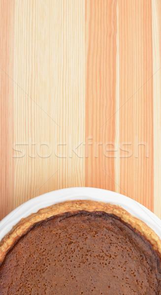 Thanksgiving pumpkin pie on wood Stock photo © sarahdoow