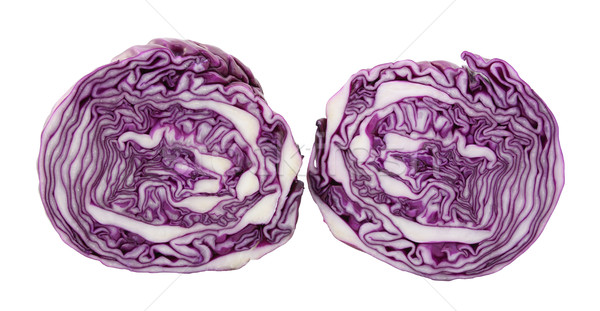 Two halves of a red cabbage Stock photo © sarahdoow