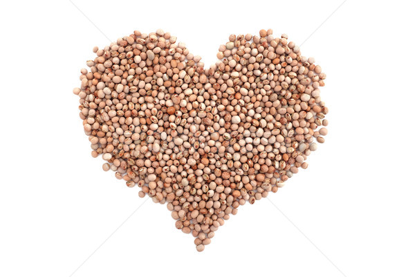 Dried pigeon peas in a heart shape Stock photo © sarahdoow