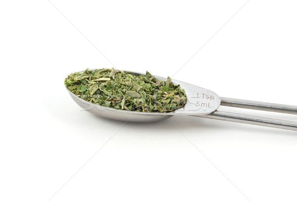 смешанный травы металл чайная ложка изолированный белый Сток-фото © sarahdoow