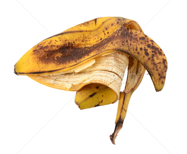 Discarded spotted overripe banana skin Stock photo © sarahdoow