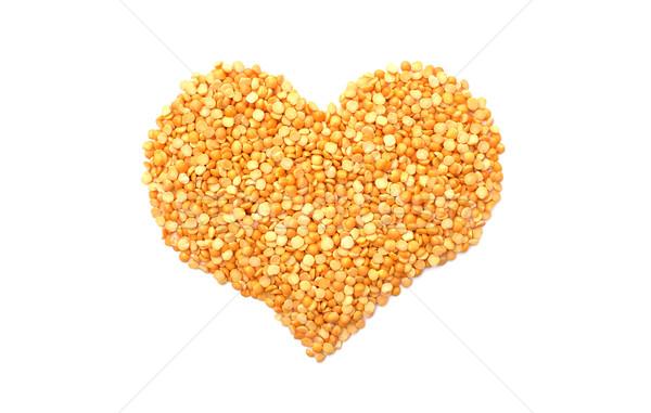 Yellow split peas in a heart shape Stock photo © sarahdoow