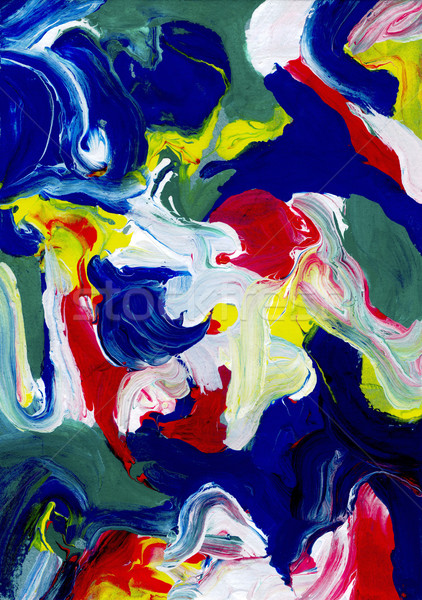 Thick abstract daubs of paint Stock photo © sarahdoow