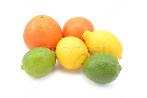 Six fruits citrons oranges isolé Photo stock © sarahdoow