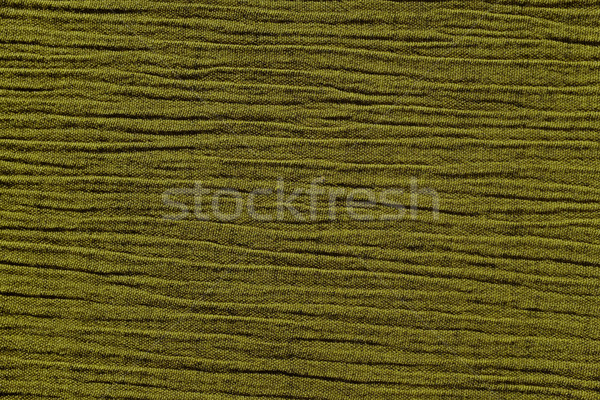 Olive green crinkled material background texture Stock photo © sarahdoow