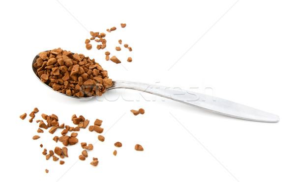 Teaspoon of instant coffee, some granules spilled  Stock photo © sarahdoow