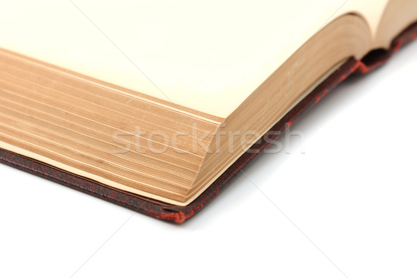 Close-up of blank pages in a thick book  Stock photo © sarahdoow