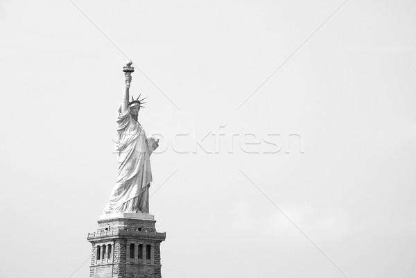 Szobor hörcsög égbolt tiszta égbolt monokróm Amerika Stock fotó © sarahdoow