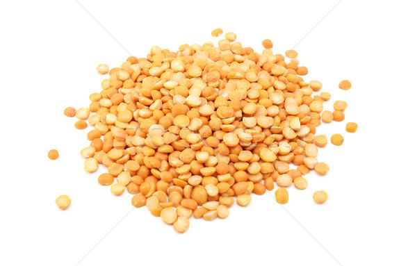 Foto stock: Amarelo · ervilhas · isolado · branco · saudável · pormenor
