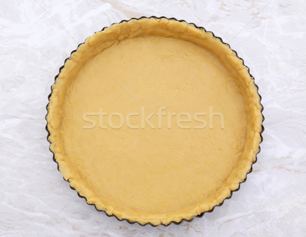 Flan tin lined with shortcrust pastry Stock photo © sarahdoow
