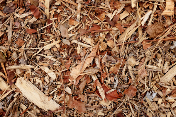 Coarse wood chippings background Stock photo © sarahdoow