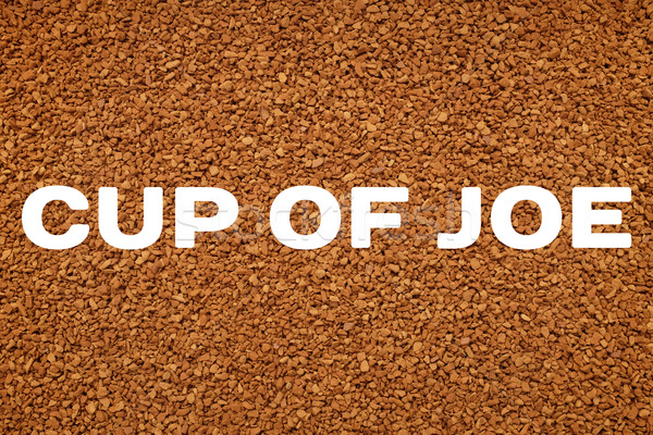 кофе Кубок текста растворимый кофе текстуры фон Сток-фото © sarahdoow