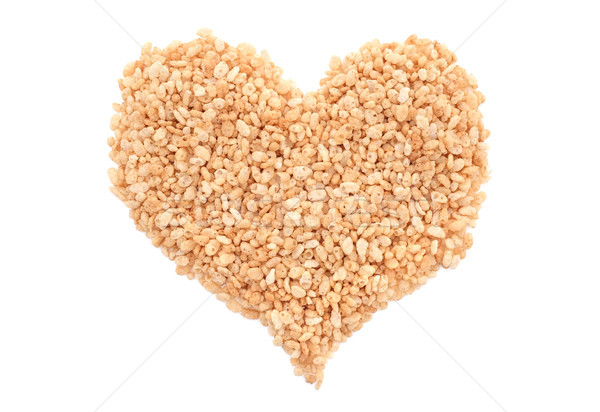 Crisped rice breakfast cereal heart Stock photo © sarahdoow
