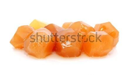 Conservado gengibre isolado branco comida Foto stock © sarahdoow