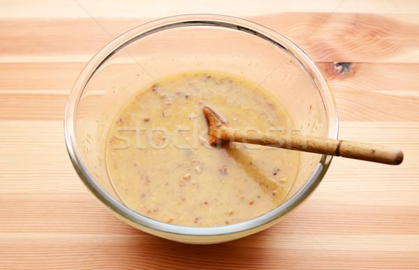 Bananów bochenek mokro składniki owoców jaj Zdjęcia stock © sarahdoow
