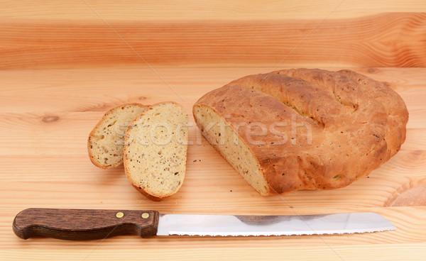 パン ナイフ スライス カット ローフ 食品 ストックフォト © sarahdoow