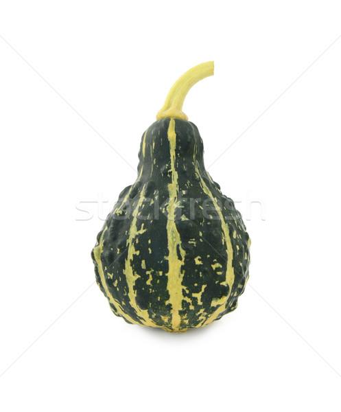 Green, stripey ornamental gourd Stock photo © sarahdoow