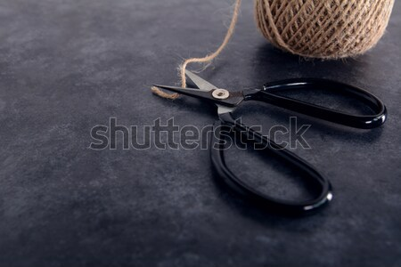 Old-fashioned scissors cutting piece of garden twine Stock photo © sarahdoow