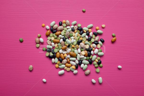 Foto stock: Misto · secas · feijões · ervilhas · rosa · preto