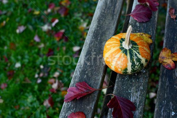 Laranja verde banco cair Foto stock © sarahdoow