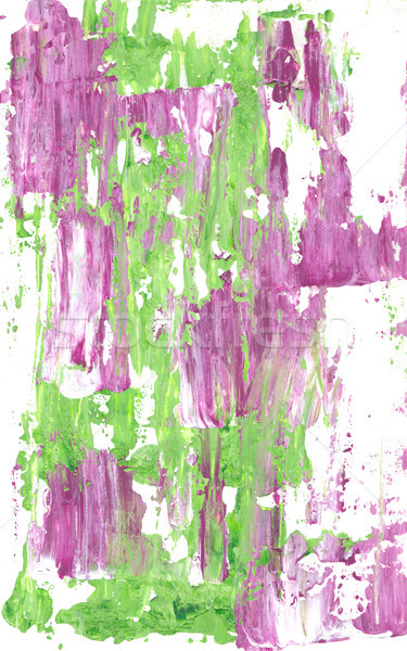 Mauve and green abstract streaks of paint Stock photo © sarahdoow