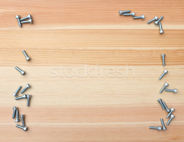Foto stock: Enchufe · cabeza · frontera · madera · forma · áspero