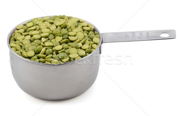 Green split peas in a measuring cup Stock photo © sarahdoow