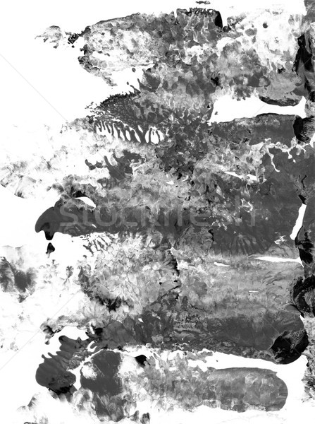 Monochrome grey and black abstract streaks of paint Stock photo © sarahdoow
