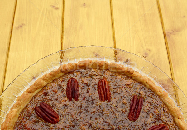 Home-baked pecan pie with copy space Stock photo © sarahdoow