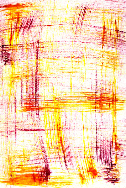 Abstract red and yellow paint brush marks Stock photo © sarahdoow