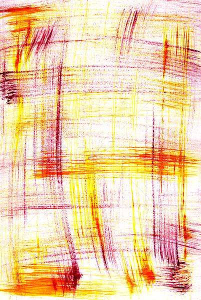 Foto stock: Resumen · rojo · amarillo · pincel · secar · cepillo