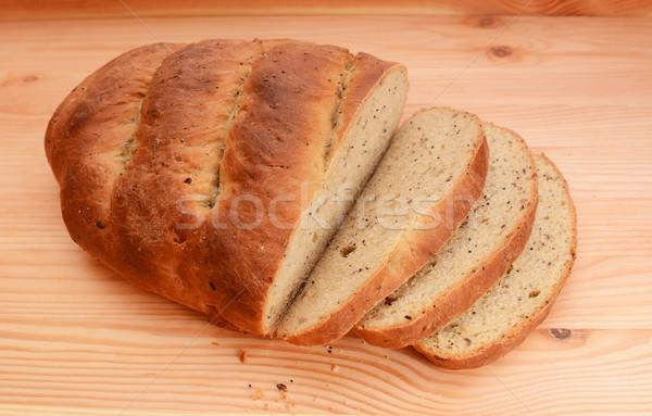 Corte rebanadas pan pan fuera Foto stock © sarahdoow