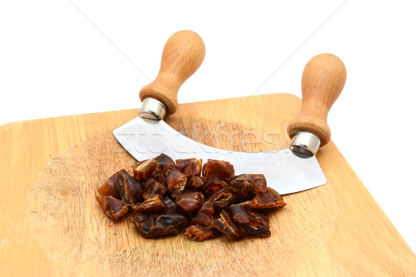 Chopped dates with a rocking knife  Stock photo © sarahdoow